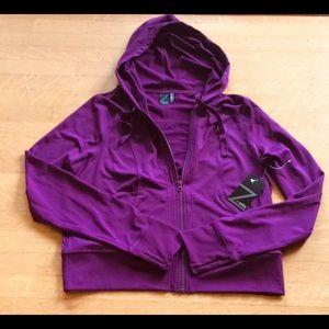 Zella Track Yoga Jacket Stretch Raspberry XL NWT